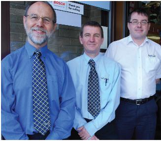 Stuart Wallace and staff